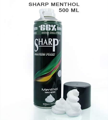[:bd]Sharp Menthol Shaving Foam 500ml[:]