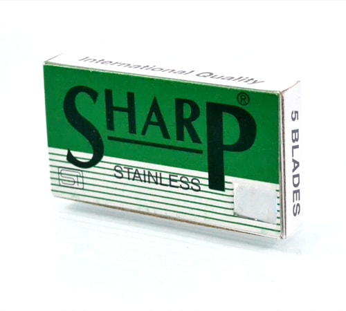 sharp double edge razor blade